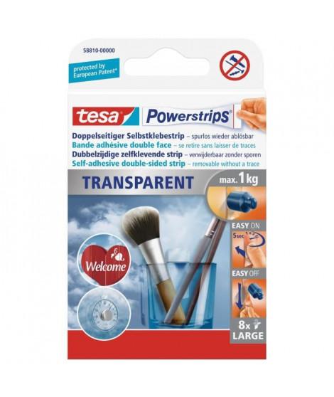 TESA Bande adhésive - Powerstrips - Transparent - x 8