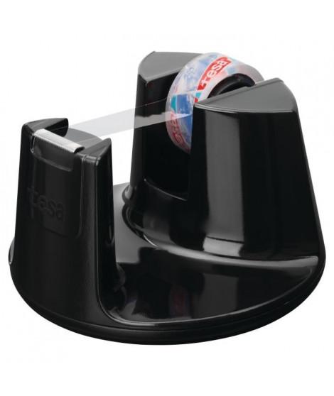 TESA Dérouleur tesafilm Easy Cut Compact noir laqué + 1 ruban adhésif crystal clear - 10m x 15mm