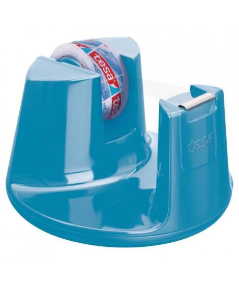TESA Dérouleur tesafilm  Easy Cut Compact Bleu + 1 ruban adhésif Crystal Clear - 10m x 15mm
