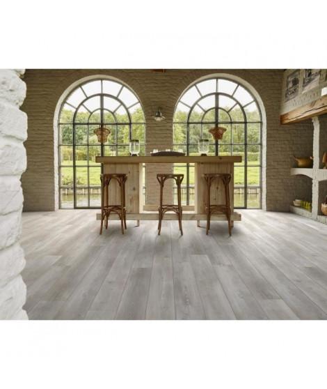CORETEC 2,66 m2 - 12 vinyles pvc clipsables 122,2 x 18,2 cm chene naturel. Sous couche liege.