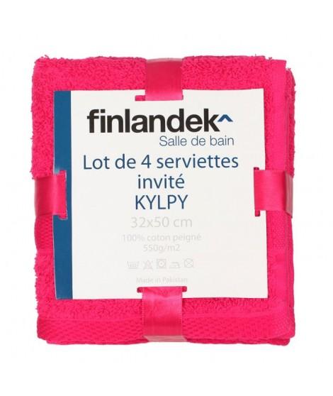 FINLANDEK 4 serviettes invités 32x50 KYLPY Fushia