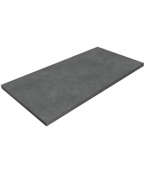 POLYREY Plan de travail Stratifié HPL Hydrofuge L 307 x P 65 x H 3,8 cm béton gris