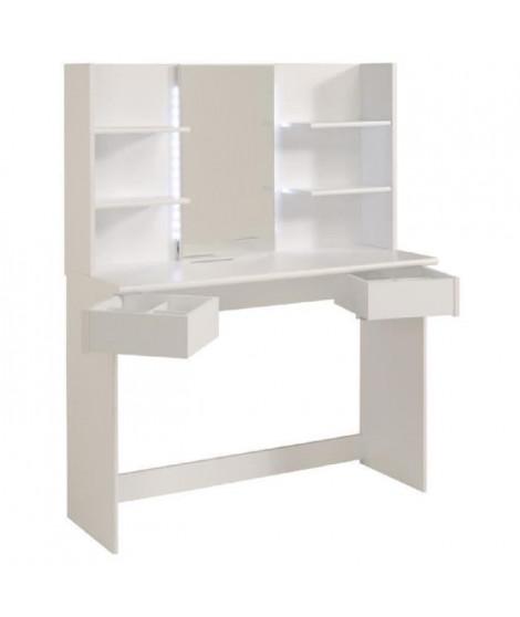 GLOSS Coiffeuse contemporain blanc - L 108 cm