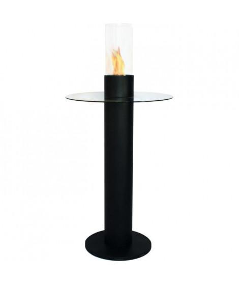 PURLINE MELIA Table de bar avec cheminée bio éthanol intégrée