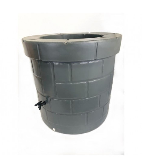 Puit recuperateur d'eau PEHD - 340 L - Gris anthracite