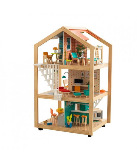 KIDKRAFT - Maison de poupées en bois So Stylish avec EZ Kraft Assembly?