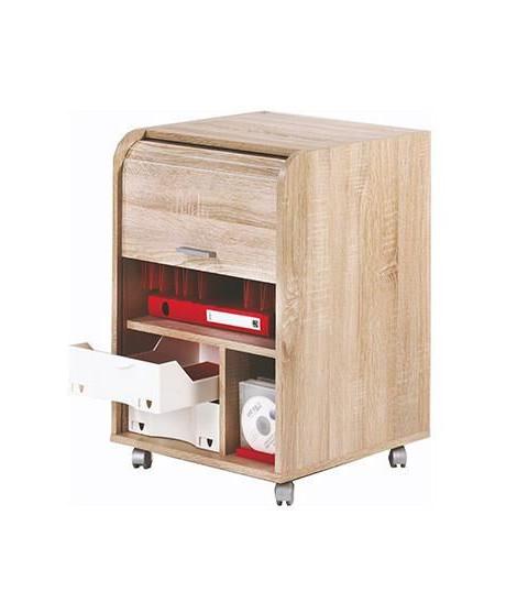 Caisson de bureau 2 tiroirs Contemporain Décor Chene naturel - L 47,2 cm