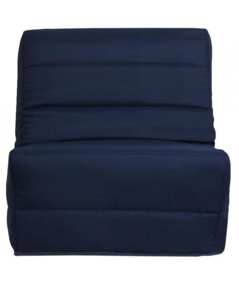 ROMA Banquette convertible BZ 1 place - Tissu bleu - Contemporain - L 80 x P 96 cm
