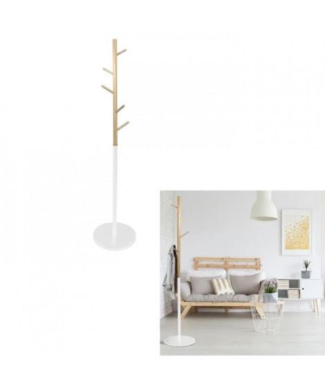 THE HOME DECO FACTORY Portemanteau Miko M1 Blanc - 180 cm