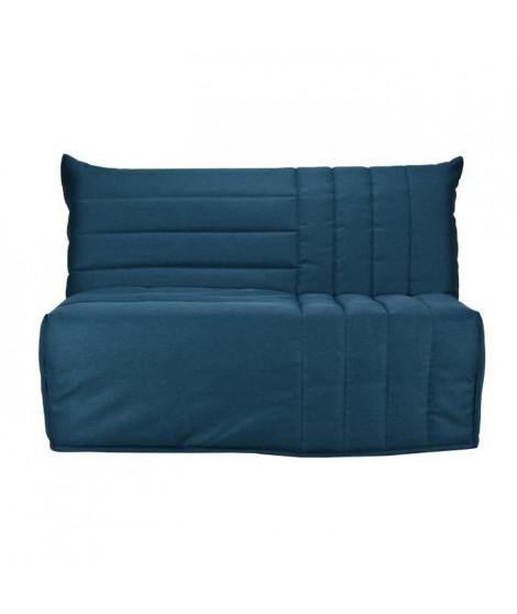 BULTEX Banquette BZ BETH 3 places - Tissu Bleu canard - L 162 x P 104 x H 98
