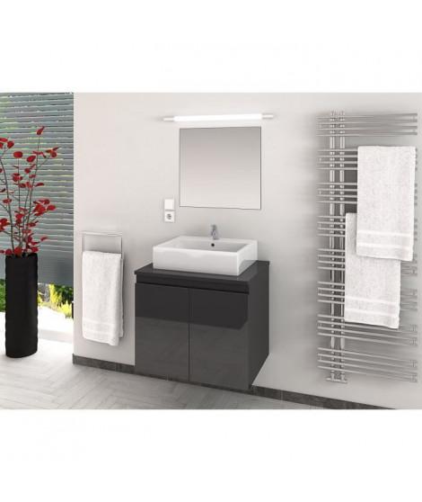 CINA Ensemble salle de bain simple vasque L 60 cm - Gris laqué