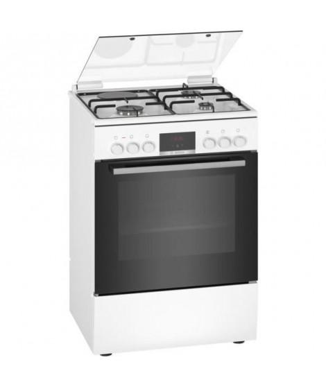 BOSCH HXR39IG20 - Cuisiniere mixte - 3 foyers gaz et 1 électrique - Four multifonction full ecoclean - 66 L - A - L 60 cm - B…