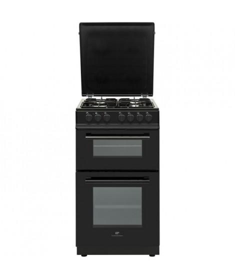 CONTINENTAL EDISON Cuisiniere 50x60 Double fours électrique - 4 feux noirc
