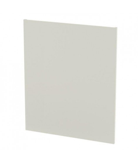 SO STEEL Panneau de protection thermique  mural et décoratif pour poele de chauffage - 80 x 100 cm - Blanc uni