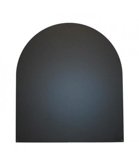SO STEEL Plaque de sol de protection pour poele a bois ou granulés - Demi ronde - 98 x 98 cm - Acier - Noir