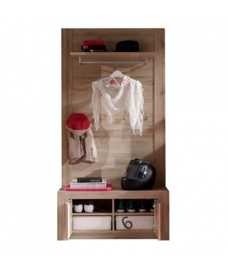COUGAR Dressing contemporain mélaminé décor chene naturel - L 96 cm