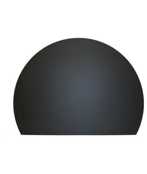 SO STEEL Plaque de sol de protection pour poele a bois ou granulés - Ronde coupée - 95 x 120 cm - Acier - Noir