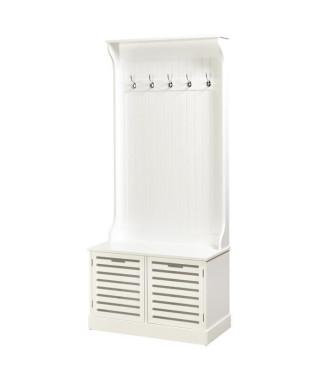 TAURANGA Vestiaire classique mélaminé blanc - L 80 cm