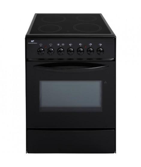CONTINENTAL EDISON CVMC6060B - Cuisiniere table vitrocéramique- 4 foyers-1700w- Four électrique- Catalyse-61L-A-L60XH85cm-Noir