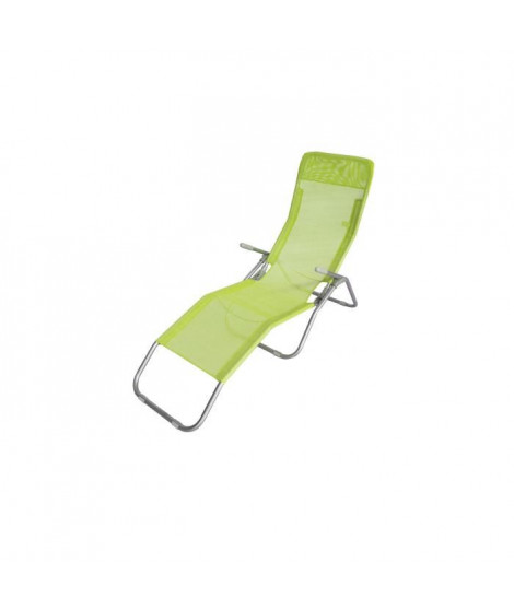 LUNJA bain de soleil vert - en textilene