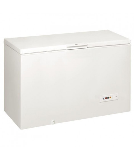 WHIRLPOOL WHM4600 Congélateur coffre - 437 L - Froid statique - A+ - L 140,5 x H 91,6 cm - Blanc