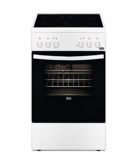 FAURE - FCV5509CWA - Cuisiniere Vitrocéramique - 4 foyers - Four électrique - 54L - A - L50cm x H85,8cm -Blanc
