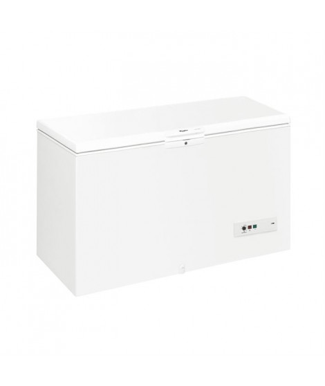 WHIRLPOOL WHM3911 Congélateur coffre - 388 L - Froid statique - A+ - L 140,5 x H 91,6 cm - Blanc