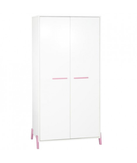 Babyprice - JOY ROSE - Armoire 2 Portes