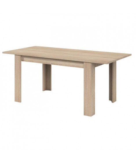 KENDRA Table a manger extensible de 6 a 8 personnes style contemporain mélaminée décor chene - L 140-190 x l 90 cm
