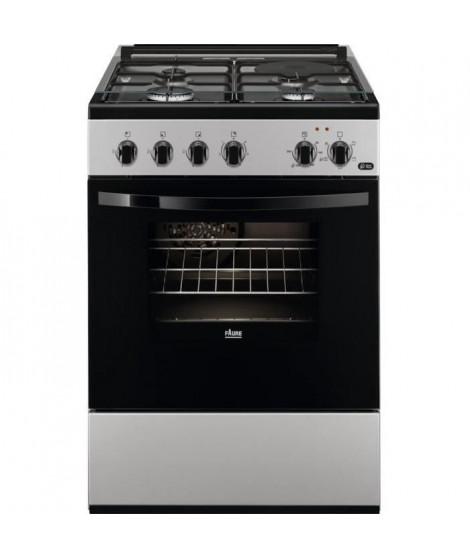FAURE - FCM650HCSA - Cuisiniere mixte -  3 foyers gaz + 1 foyer électrique - Four électrique - 54L - A - L60cmxH88,9cm - Silver