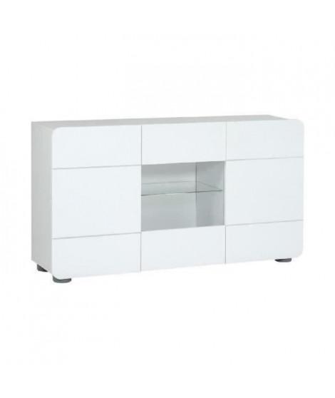 BUMP Bahut contemporain - Laqué blanc brillant - L150 cm cm