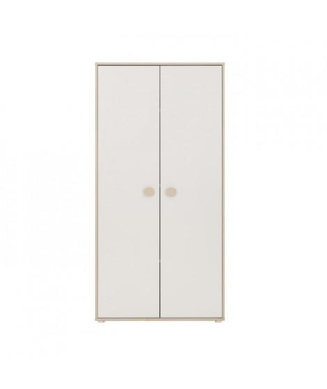 GAMI Simon Armoire 2 portes pin blanchi