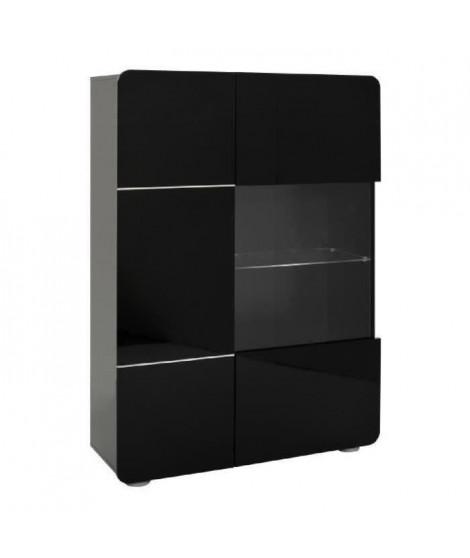 BUMP Buffet contemporain Laqué noir brillant - L 110 cm