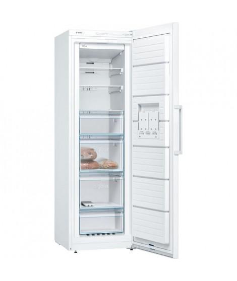 BOSCH GSN36VW3P - Congélateur armoire - 242 L - Froid no frost multiairflow - A++ - L 60 x H 186 cm - Blanc