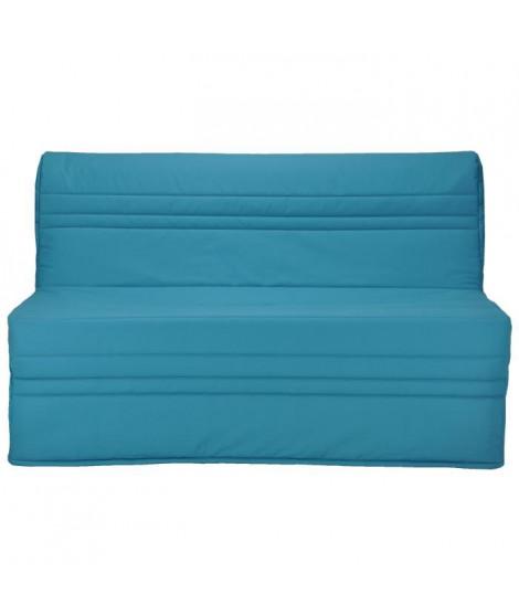 JOÉ Banquette BZ 3 places - Tissu bleu turquoise - Contemporain - L 143 x P 97 cm