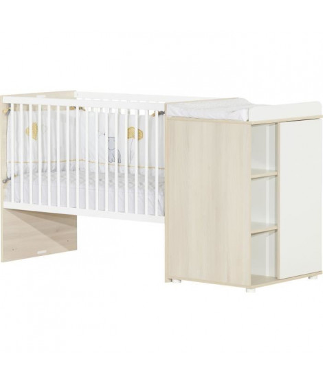 BABY PRICE ENZO Lit combine 60 x 120 cm évolutif en 90 x 190 cm