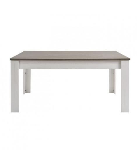 MARQUIS Table a manger extensible 8 a 10 personnes style contemporain décor pin et décor chene - L 230 x l 90 cm