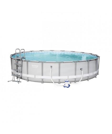 BESTWAY Kit pisince ronde Power Steel Frame Pool - Ø 610 x H 122 cm