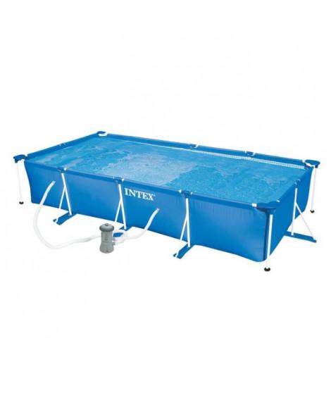 INTEX Kit piscine rectangulaire tubulaire - 450 x 220 x 84 cm