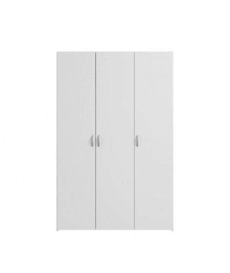 VARIA Armoire 3 portes décor blanc L120 cm