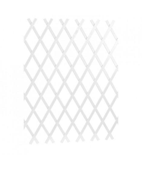 LAMS Treillage PVC strié - 2 x 1 m - Blanc