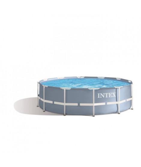 INTEX Kit Piscine ronde tubulaire Prism Frame - 3,66 m x 99 cm + Bâche De Protection Offerte