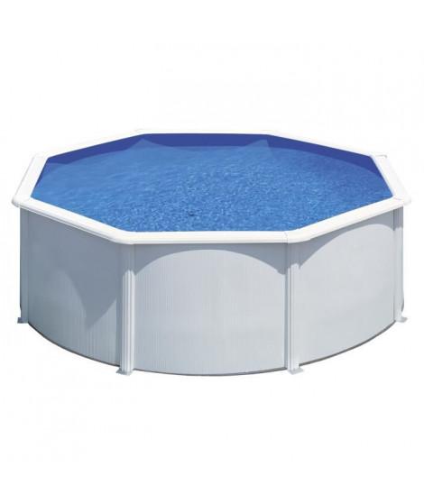 GRE Kit piscine hors-sol ronde en acier Wet Ø3,50x1,20 m - Liner bleu