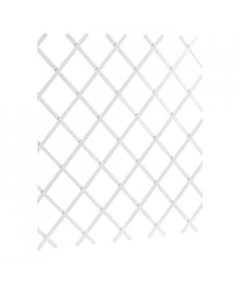 LAMS Treillage PVC lisse - 3 x 1 m - Blanc