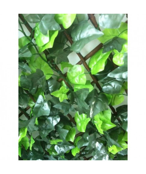 IDEAL GARDEN Treillis extensible Osier - Avec feuilles artificielles type Lierre - 1 x 3 m