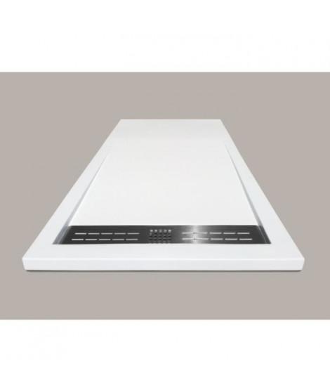 MITOLA Receveur en résine composite SPIRIT 120x80 blanc