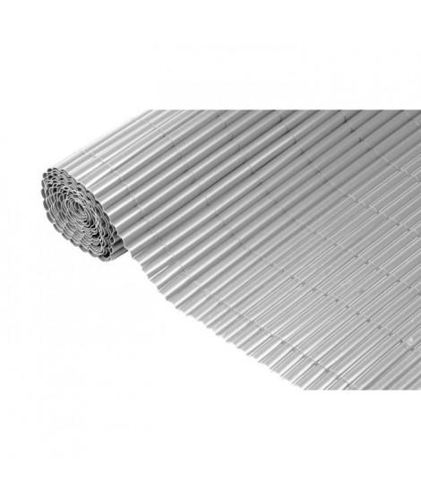 NATURE Canisse PVC simple face - 1,5x5 m - Gris