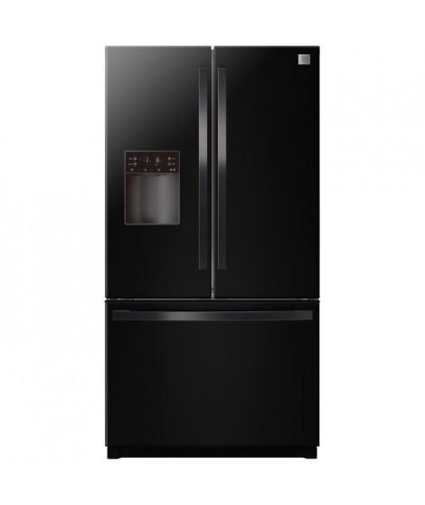 DAEWOO RFN-26D1BI-Réfrigérateur américain congélateur tiroir-639L (448L + 191L)-Froid ventilé total-A+-L 91,4 x H 177,3 cm-Noir