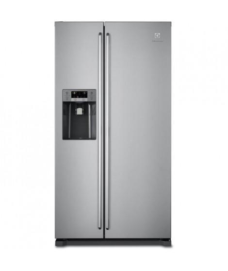 ELECTROLUX EAL6140WOU-Réfrigérateur américain-549 L (370 + 179 L)-Froid ventilé-A+-L 91,2 x H 178 cm-Inox