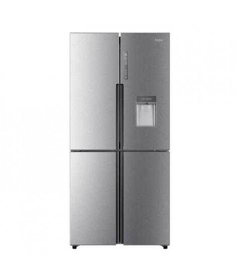 HAIER HTF-456WM6 - Réfrigérateur multi portes avec distributeur d'eau - 456 L - Froid ventilé - A+ - L 83.3 cm - Silver